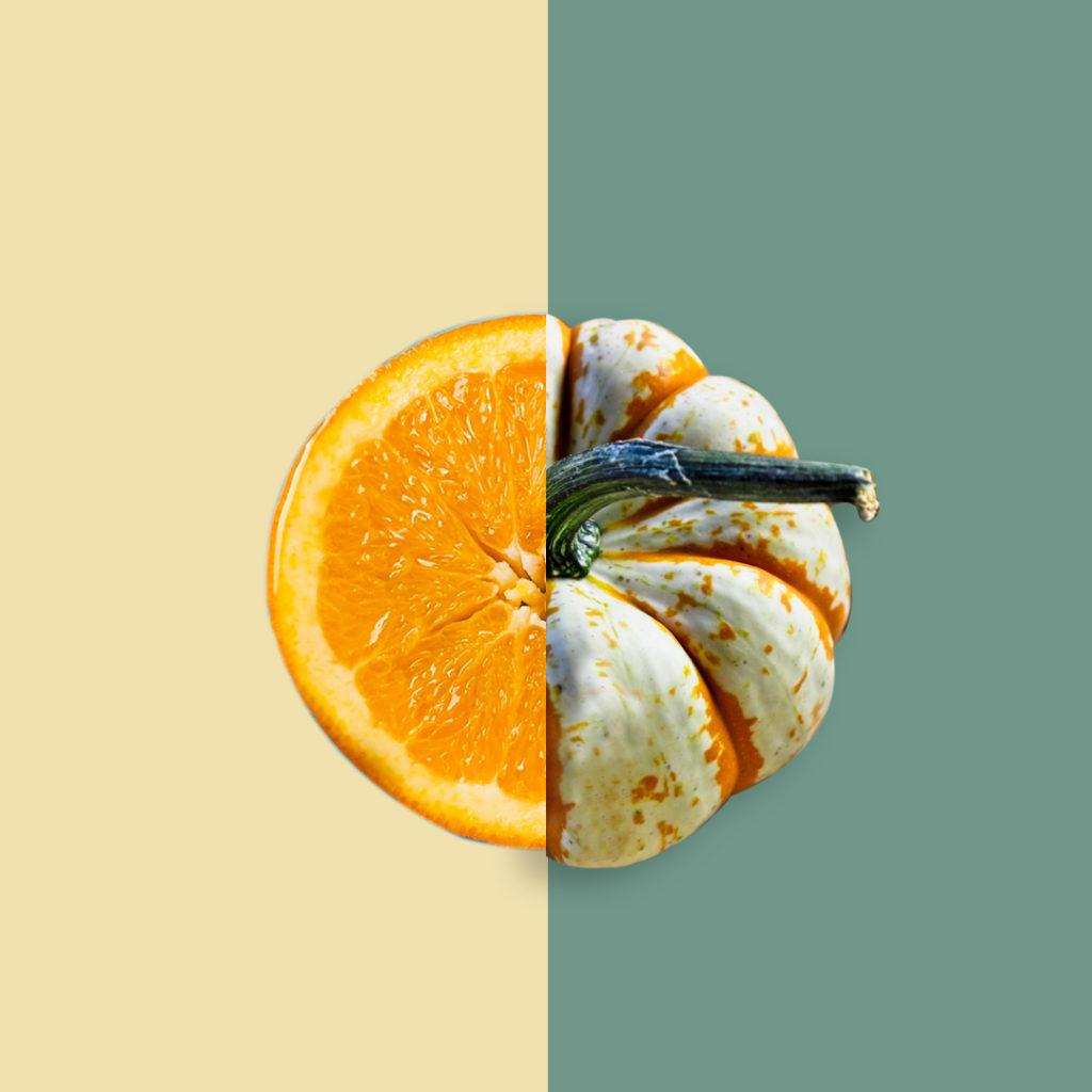 arancia/zucca SUCCOSO/ASCIUTTO